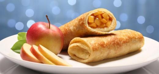 Deliciosa panqueca doce de maçã