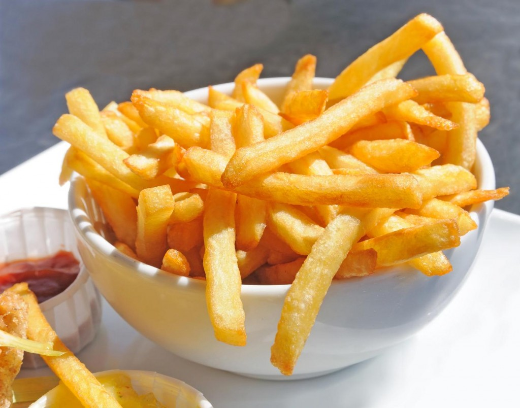 Batata frita na pressão